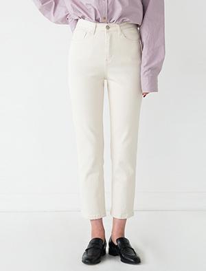 cream straight pants